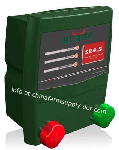 Electric fence mains/battery energizer