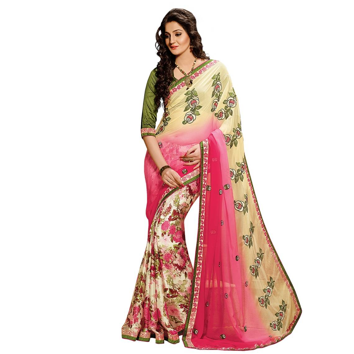 Shonaya Multicolour Georgette Embroidered Sarees With Blouse PieceSGDN2-4861