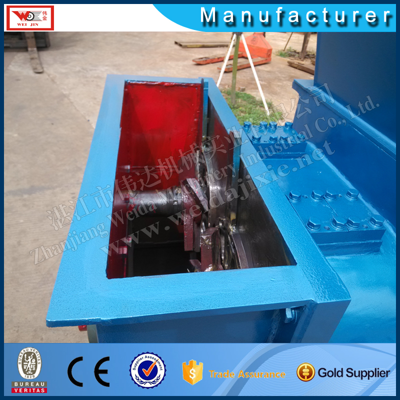 standard rubber production line single helix breaking crushing cleaning machine