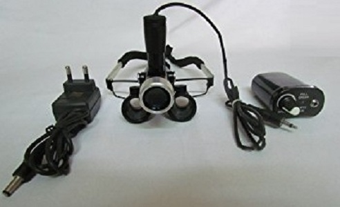 Binocular Loupe with rechargeable battery