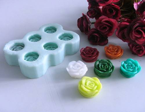 R0404 Resin rose  flower silicone soap mold/handmade silicone rose soap mould