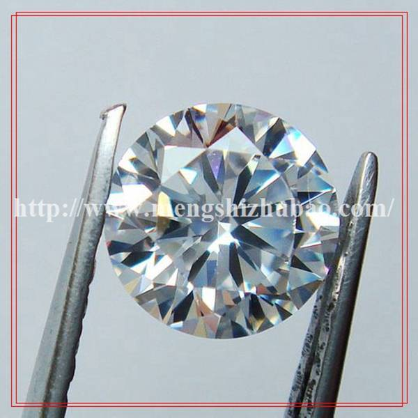 Machine Cut White Round Loose CZ Stone Hot Sale in Brazil