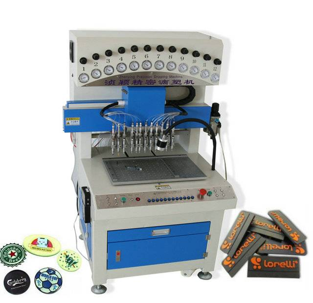 Customs Soft PVC keychains Filling Machine