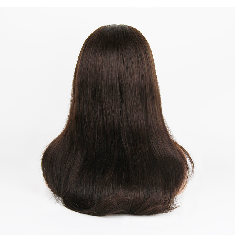 human wig 2018 Europe and America hot sale 2# full lace wig full hand hook wig headband real fashion