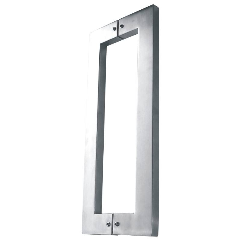 Glass door Square pull handles satin/mirror stainless steel