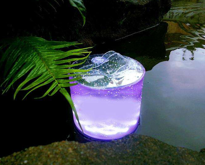 Portble Inflatable LED Solar Light for outing camping hiking garden mountaineering without power sup