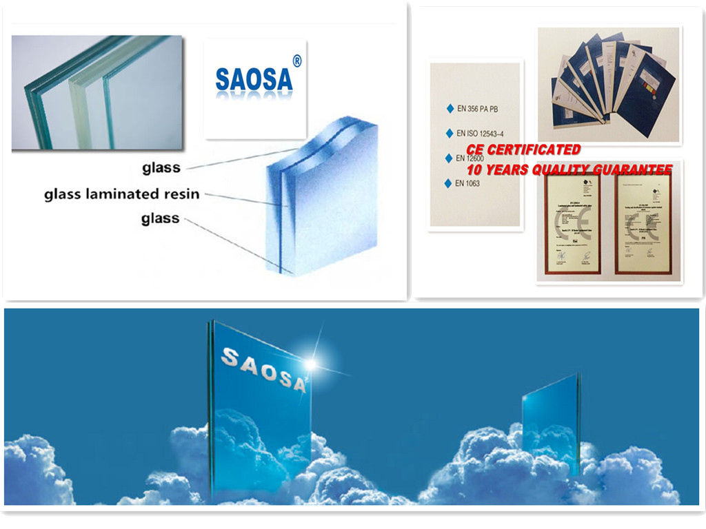 SAOSA CIP resin UV cured for laminated safety glass