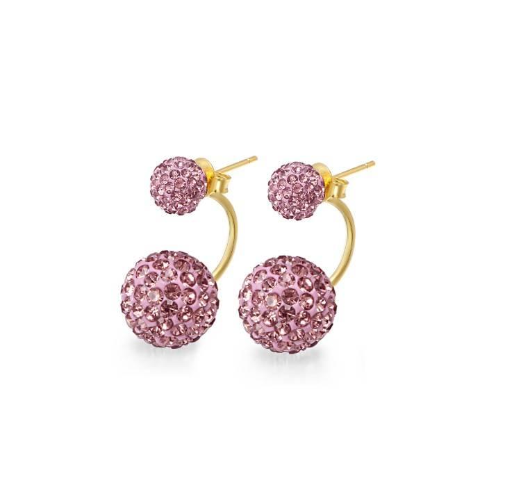 European Style Hot Selling Rose Czech Crystal Earring