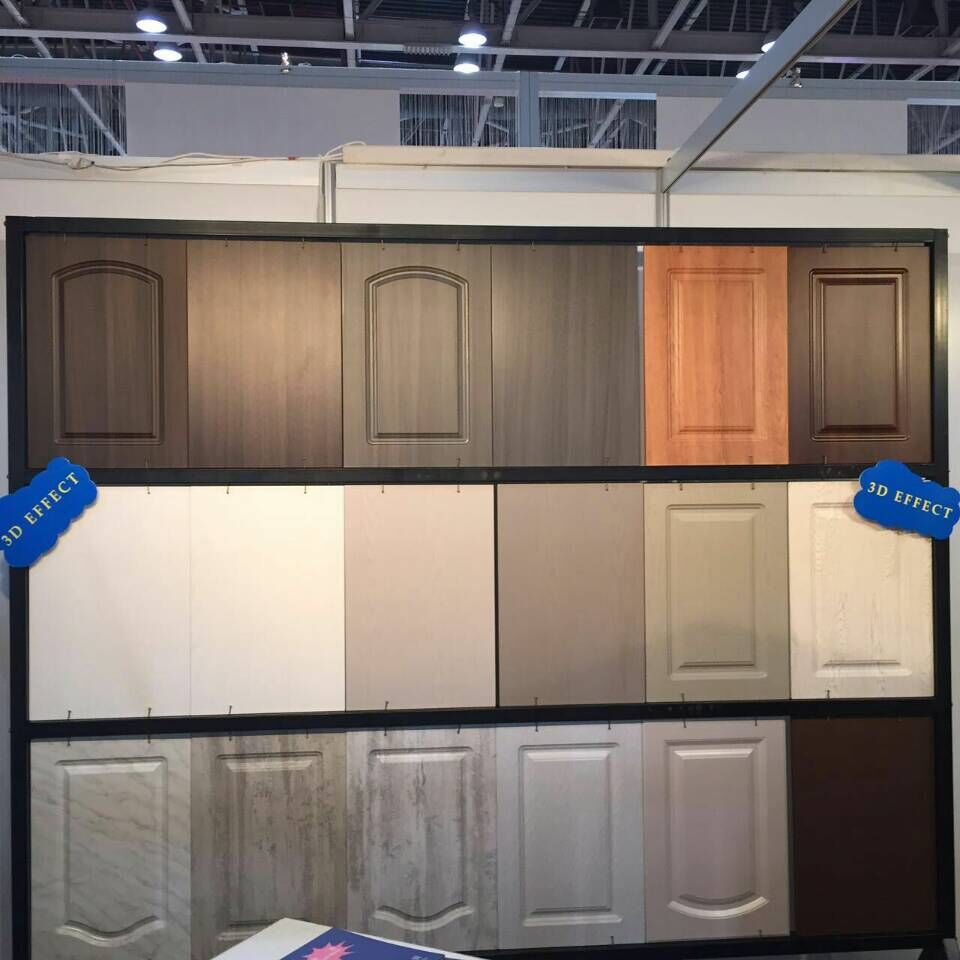 Kitchen Cabinets Wood Grain PVC Films