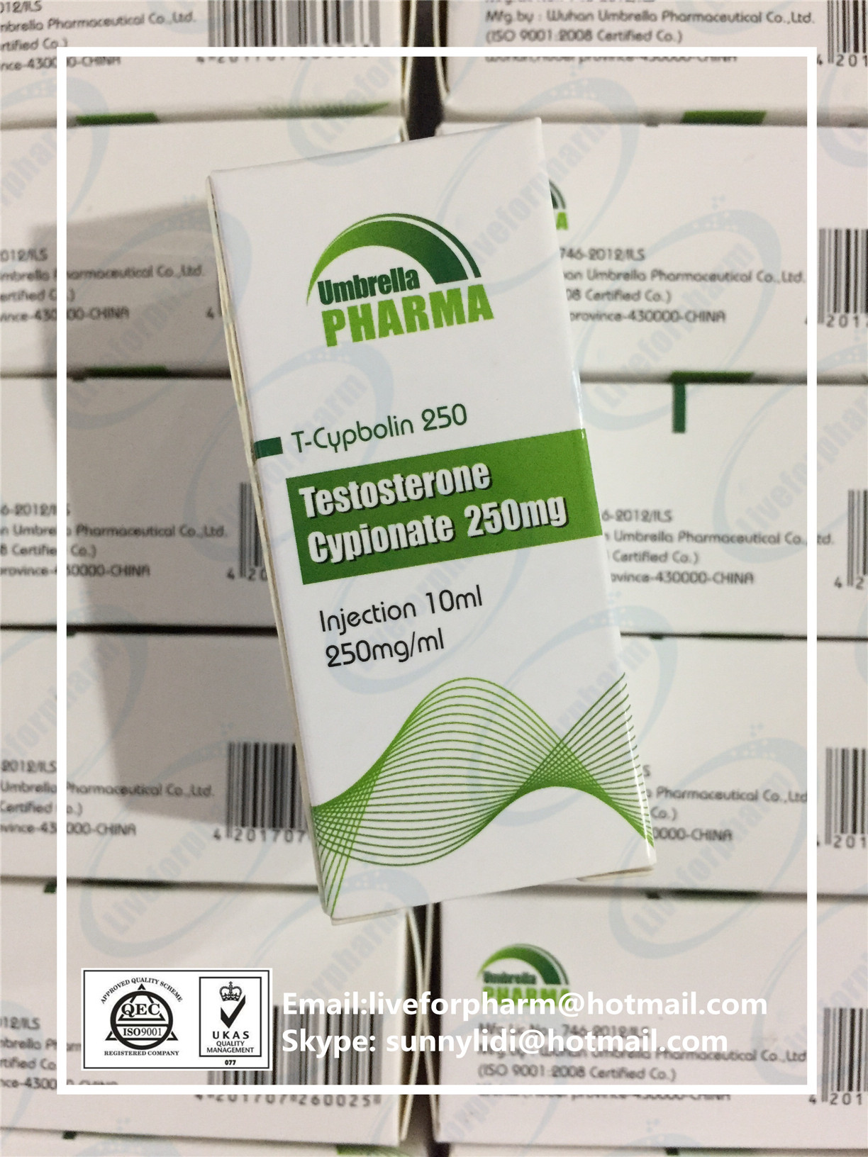 Steroid OIL Injection liquid Testo Cypionate 250mg/ml TC250 T-Cypbolin 250 98.8% above