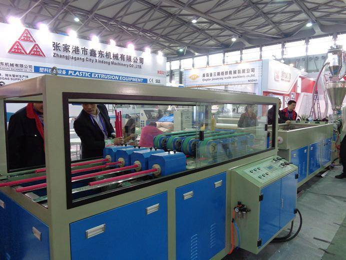 Quadruple PVC pipe extrusion production line