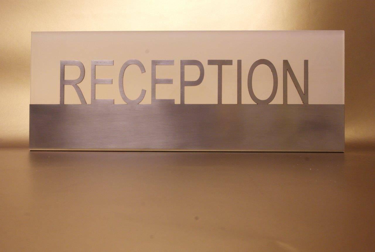 reception sign desk