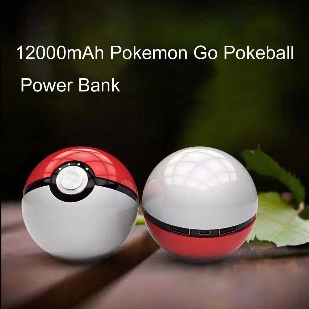 Poke Ball Power Bank - Powerbank Charger 12000mAh for Pokemon Go Pokeball