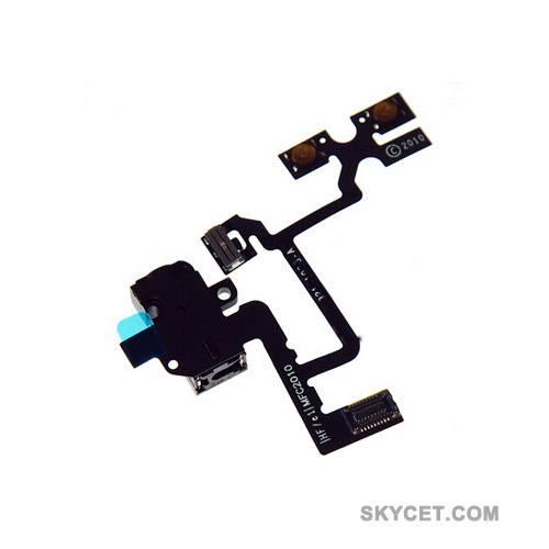Audio Jack Flex Cable Replacement Parts For iPhone4-Black-Grade A