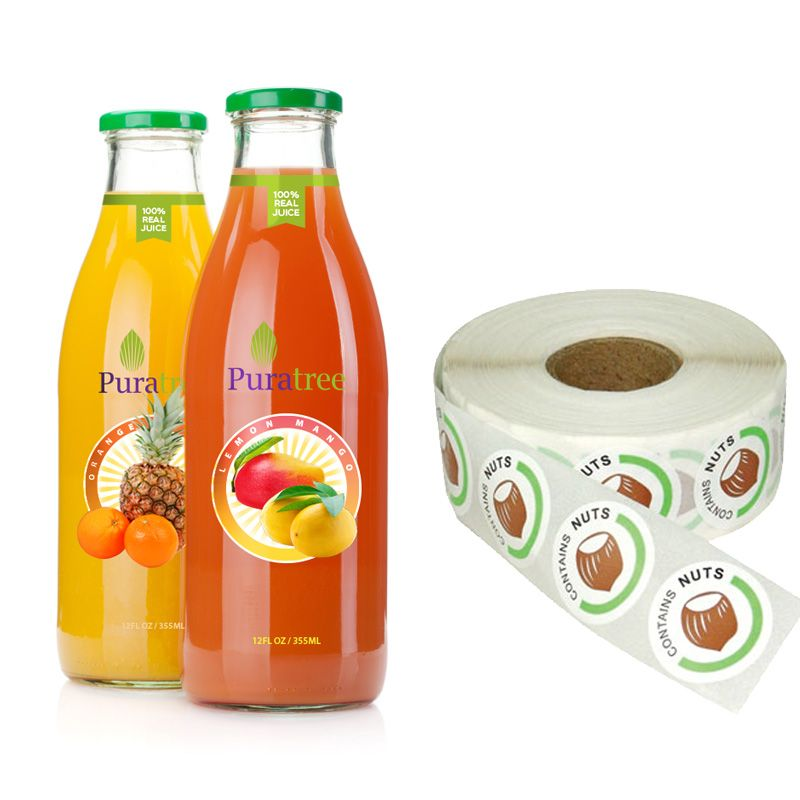 Eco-friendly Waterproof Beverage Packaging Bottle Label Sticker
