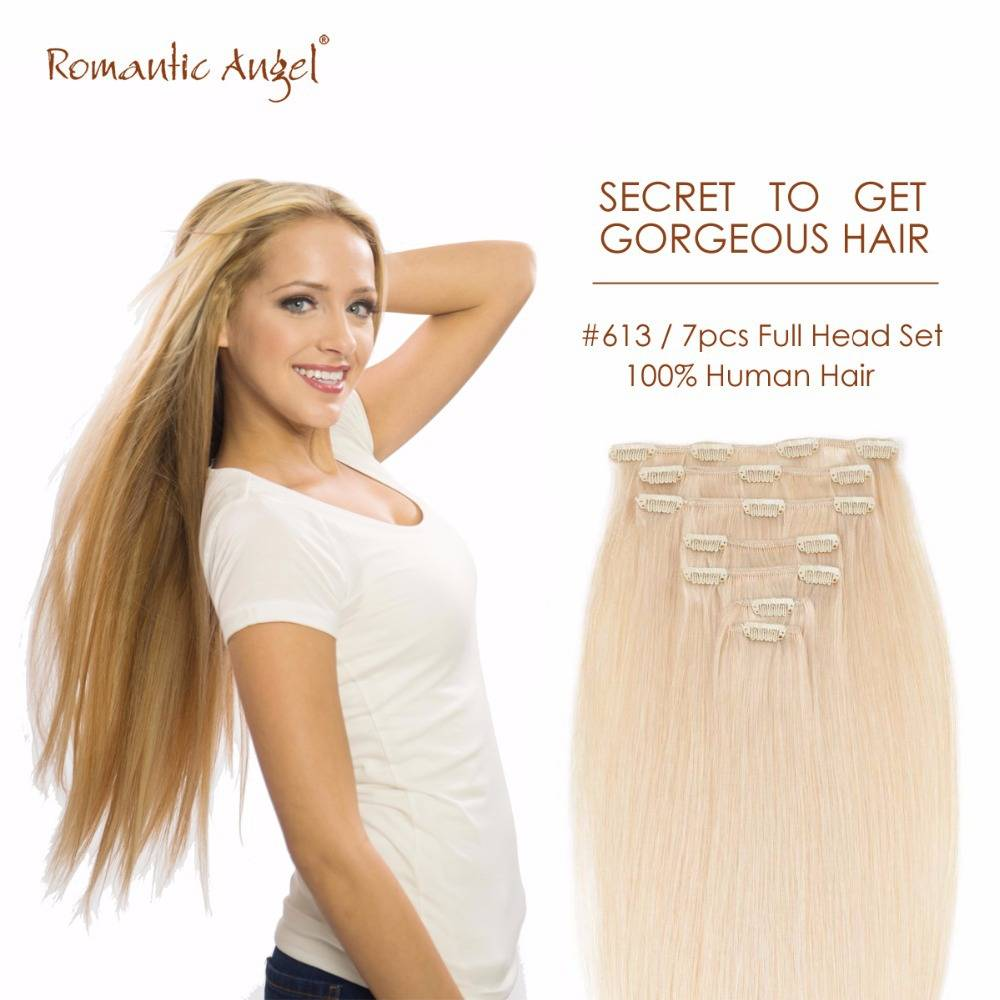High quality Virgin remy Clip in hair extension