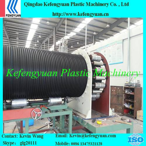 KFY winding type plastic steel pe hdpe pipe tube extrusion line