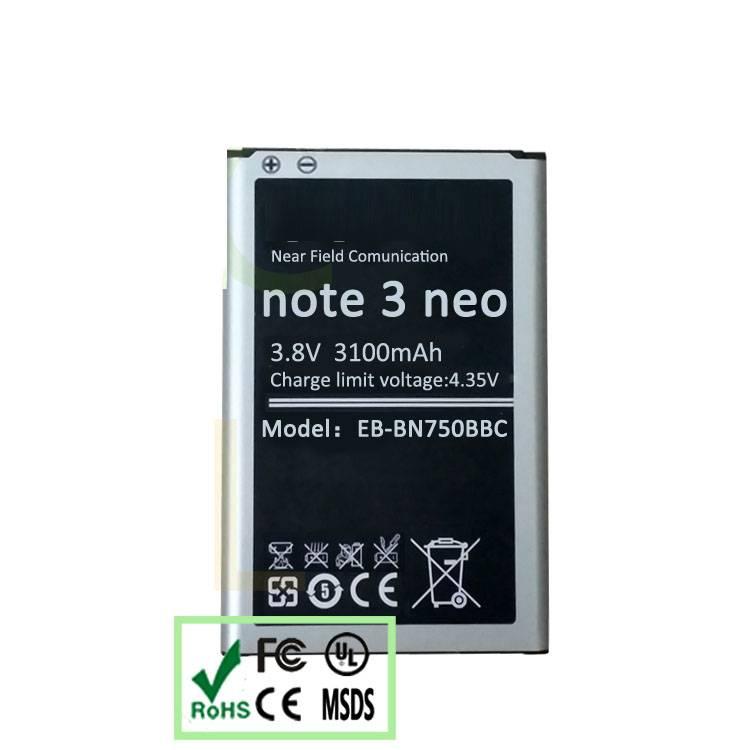 3100mAh Battery for Samsung N7508V N7506V NOTE 3 mini Battery EB-BN750BBC