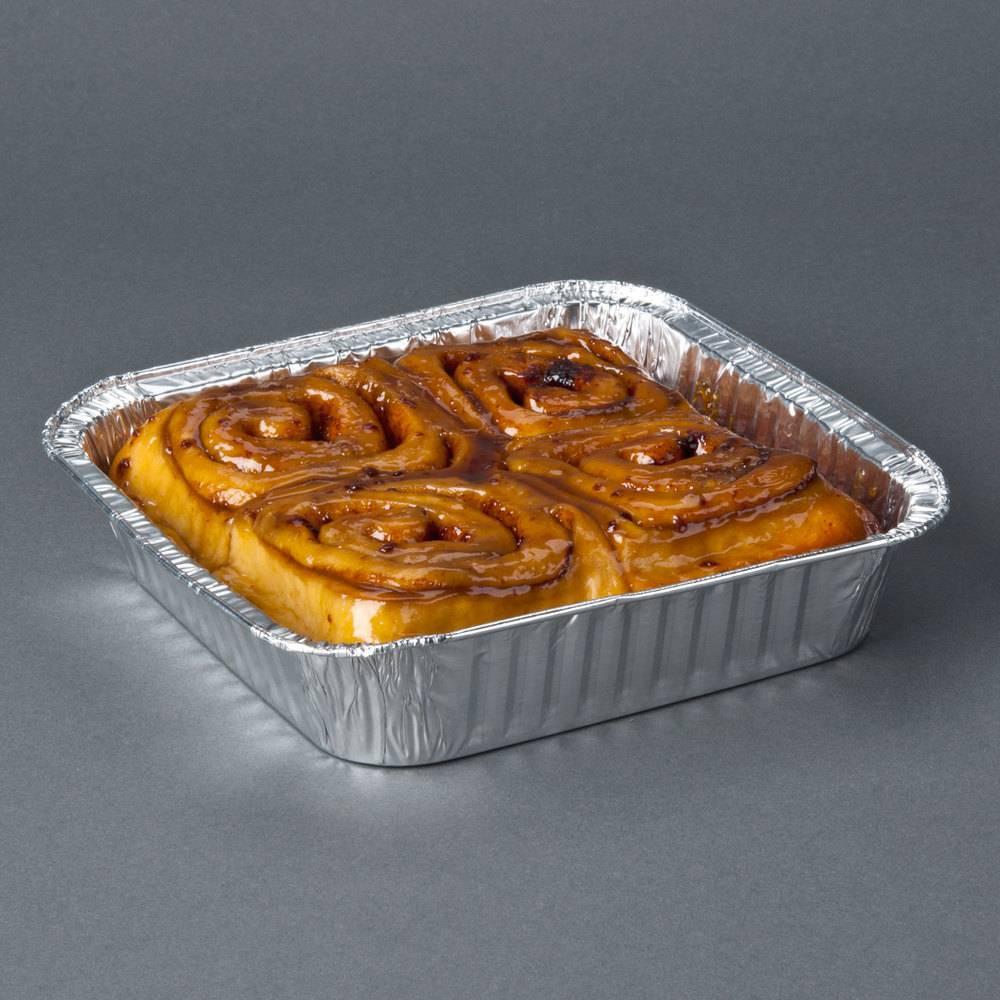SFE248 food packing square shape aluminum foil pisa tray