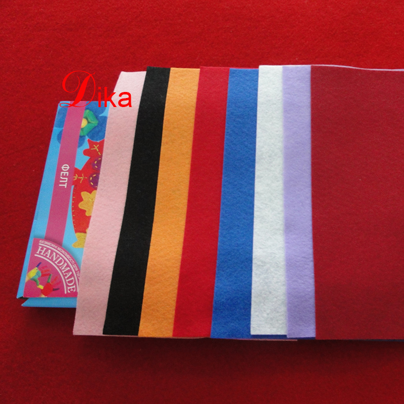 Eco-friendly DIY Polyester 1mm thick craft pokyester Felt Squares Sheets, soft craft sewing felt
