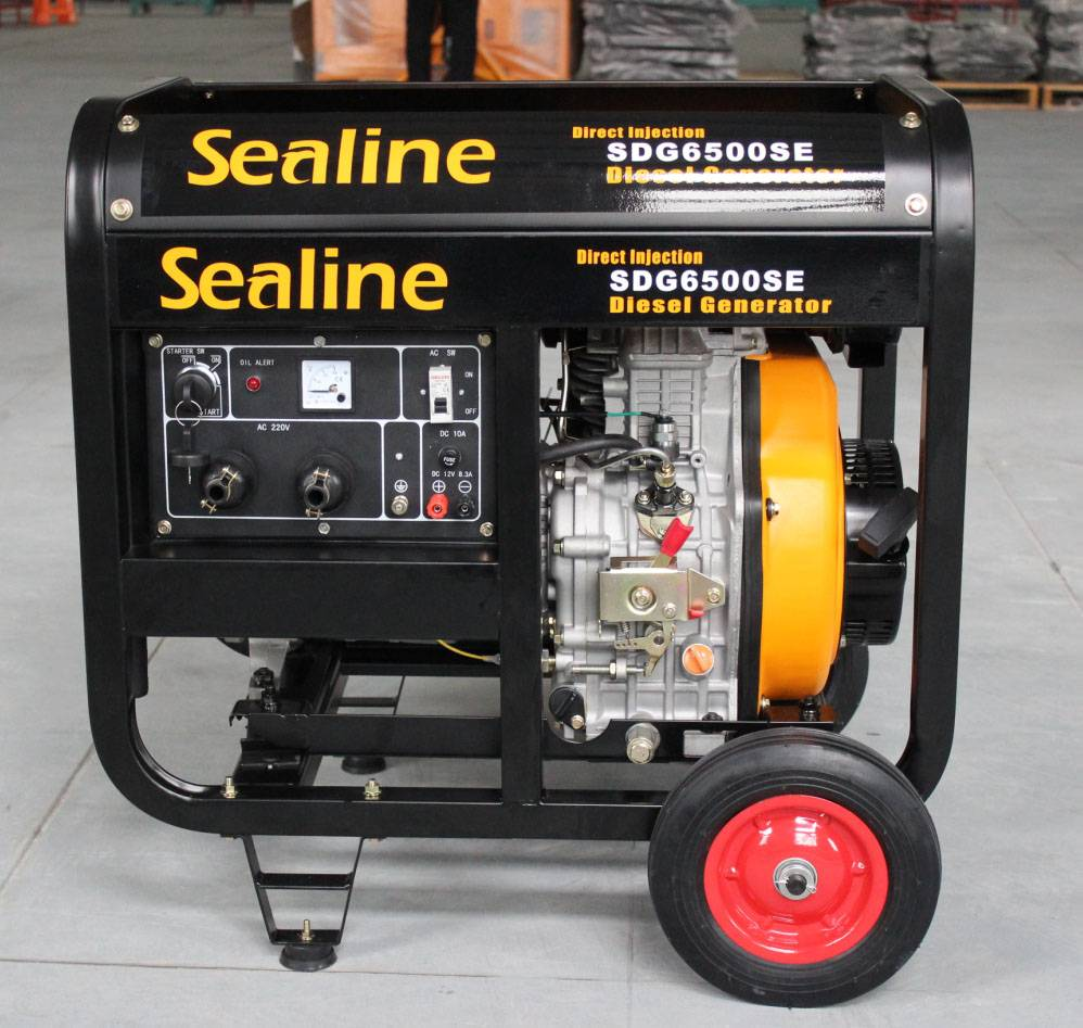 5KW Portable Open Type Diesel Generator