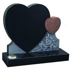 Children headstone heart shape monument