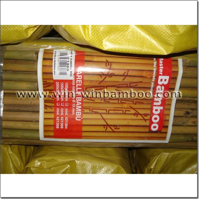 Garden bamboo fencing- wire inside woven bamboo canes