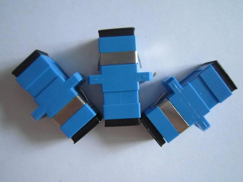 Free Samples!!!SC/UPC to SC/UPC Single-mode Simplex Plastic Fiber Adapter