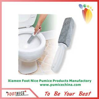 foam pumice sponge stick with handle for toilet cleaning stone