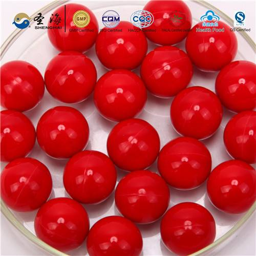 Gelation dye paintball ball with food coloring