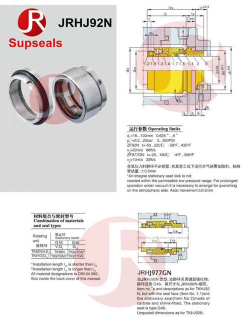 Mechanical Seal Replacement Burgman JR HJ92N