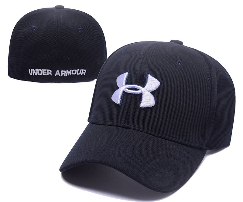 Under Armour Stretch Fitted Hats Navy