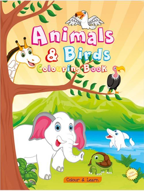 Animals & Birds Colouring Book