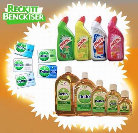 DETTOL and HARPIC liquid & bar soap