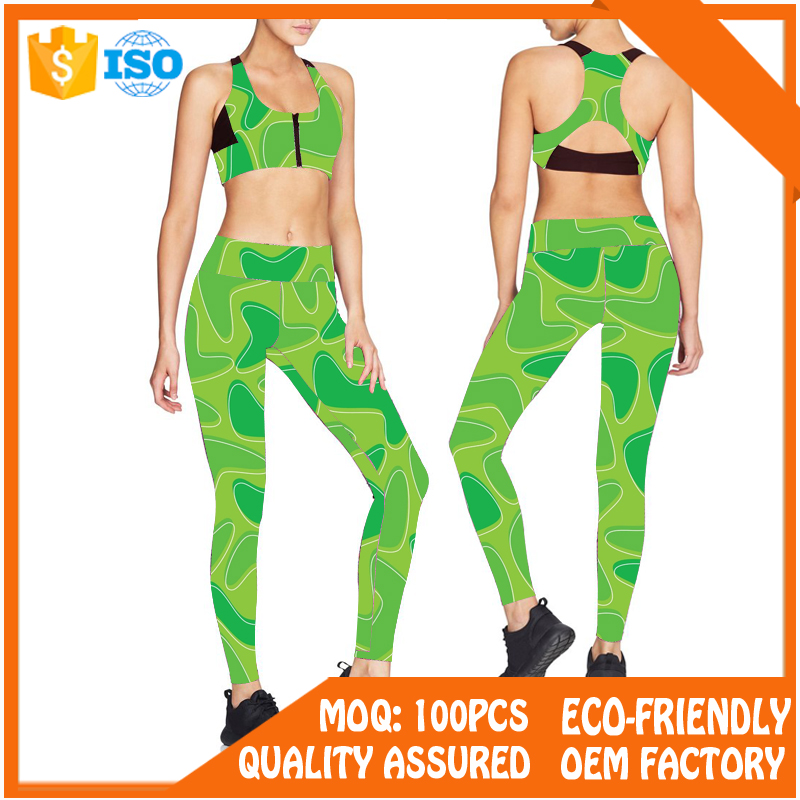 88% polyester 12% spandex digital print slim fit yoga pants womens