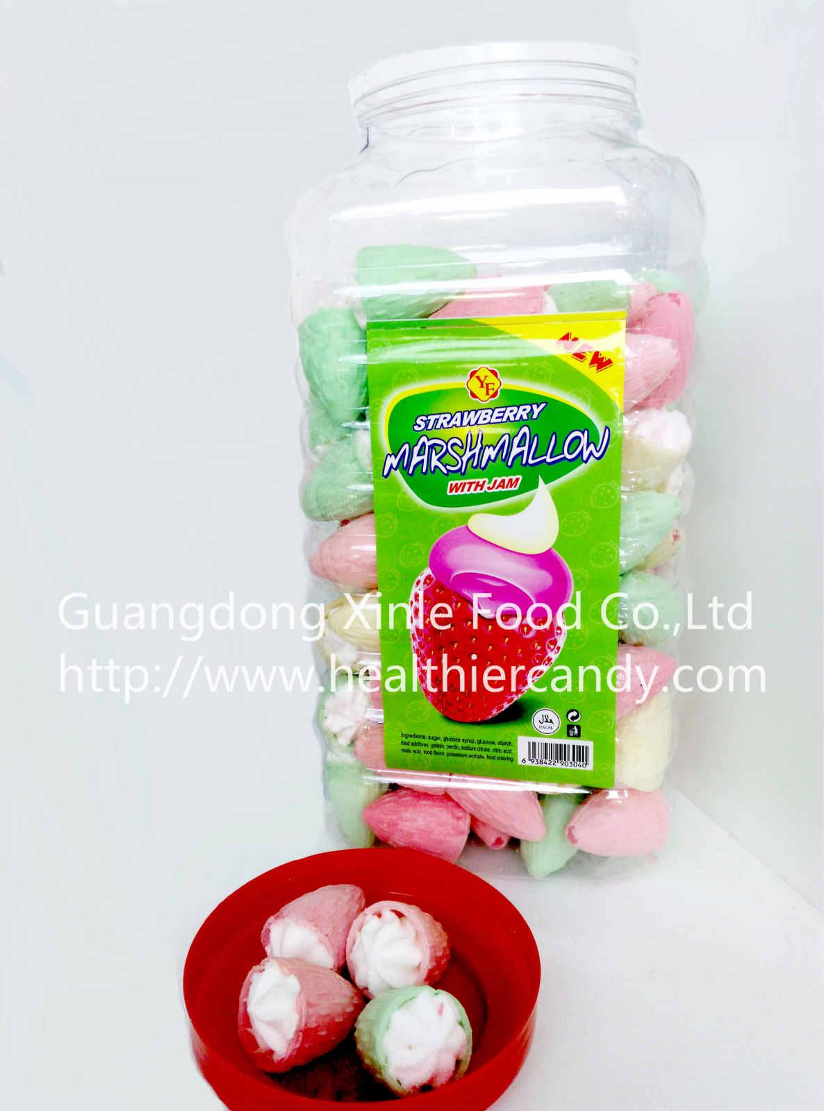 Wholesale Strawberry Shape Ice Cream Shape Marshmallow In Jar NiceTaste