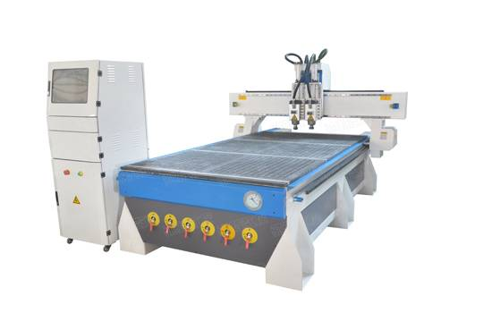 1325 double process  woodworking cnc router with 2 spindles