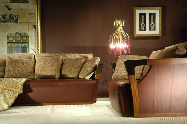 High-end Designer Furniture: Genuine Leather Living Room