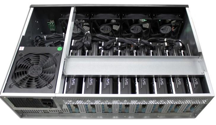 Q-408 8GPU Miner Mining machine system 8 GPU ETH Ethereum