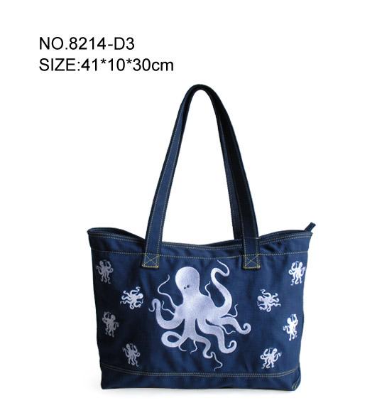 Women's Octopus Pattern Shopping Bag
