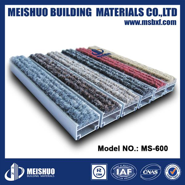 Aluminum carpet insert heavy duty door mats commercial