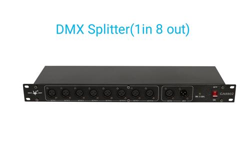 DMX Splitter stage signal amplifier 8CH