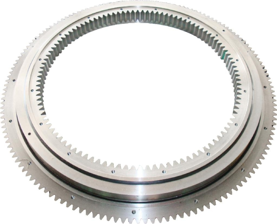Four-point conact ball slewing bearing with gear in inner ring 012.25.630