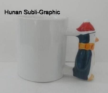 11oz Peguin handle mug