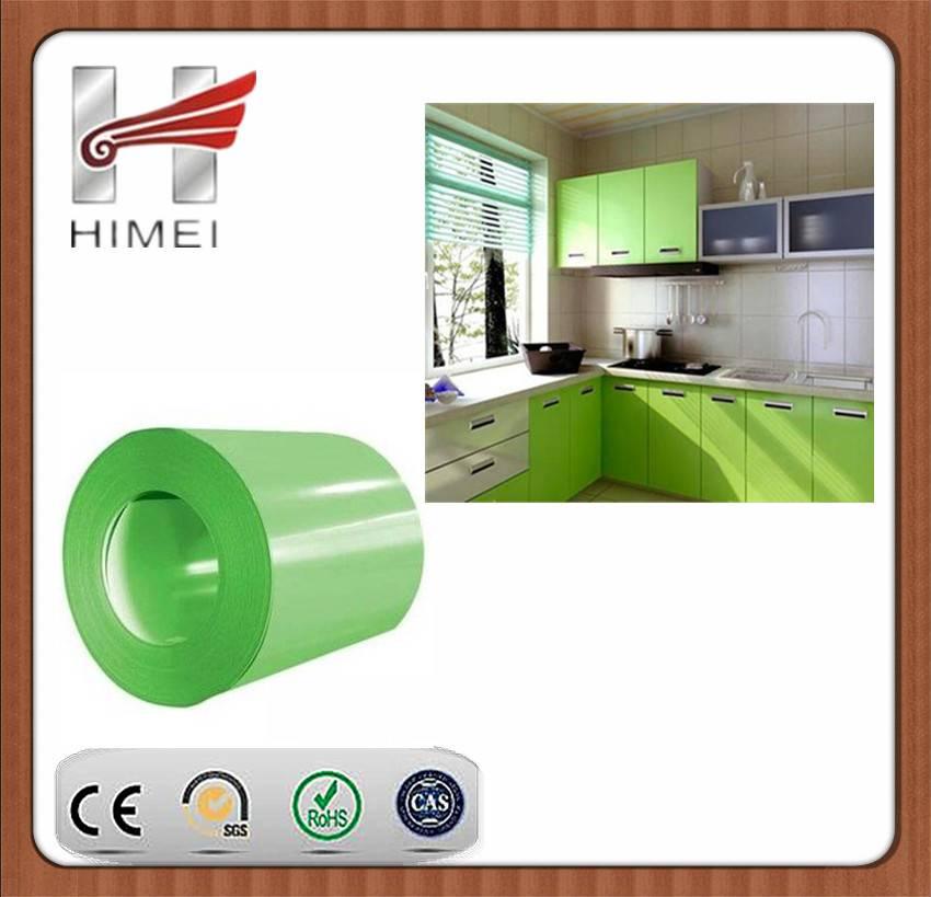 PVC film laminated sheet for kitchen equipment