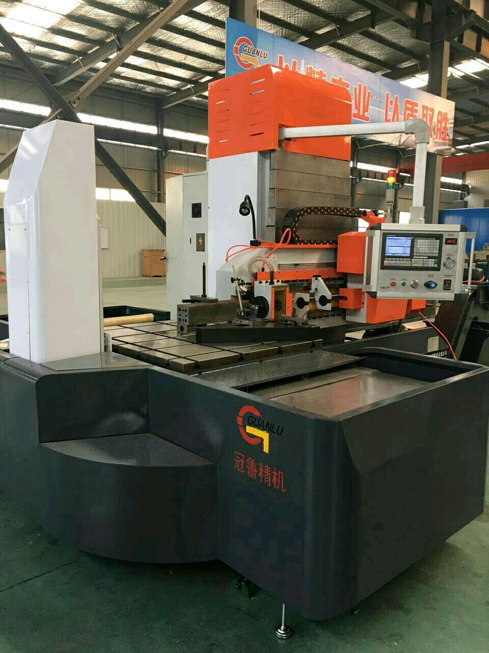 Three axis deep hole drilling machine