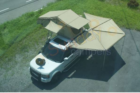 Roof Top Tent / Car Top Tent  Polyester or  280g Ripstop Canvas Material By Sundaycampers