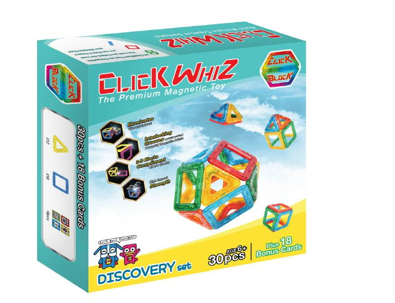 CLICKWHIZ 2D DISCOVERY Educational magnetic block toy