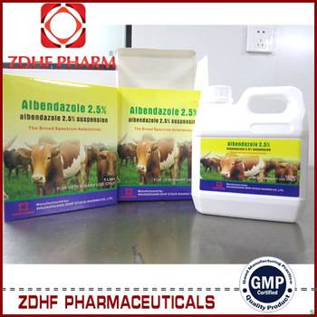 Veterinary parasite drugs albendazole suspension 2.5% for cattles