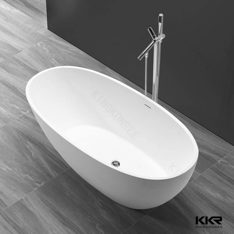 KKR cheap solid surface modern bathtub